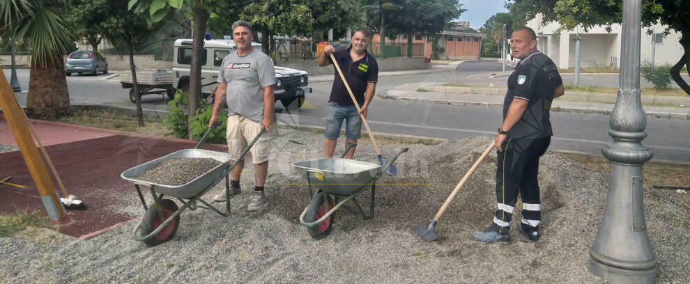 Parco giochi di Caulonia marina: la Protezione civile lavora alla svolta