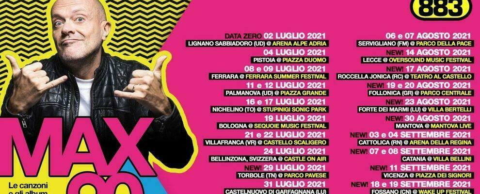 Max Pezzali il 17 agosto in concerto a Roccella Jonica