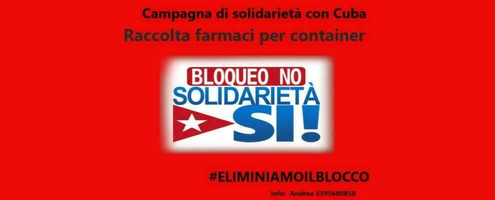 Raccolta fondi e medicinali per sostenere la popolazione di Cuba con l'iniziativa #Eliminiamoilblocco