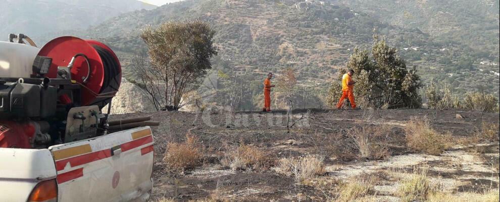 Caulonia, fiamme finalmente sotto controllo