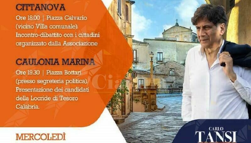 Stasera in piazza Bottari a Caulonia la presentazione della candidatura di Antonella Ierace con Tansi