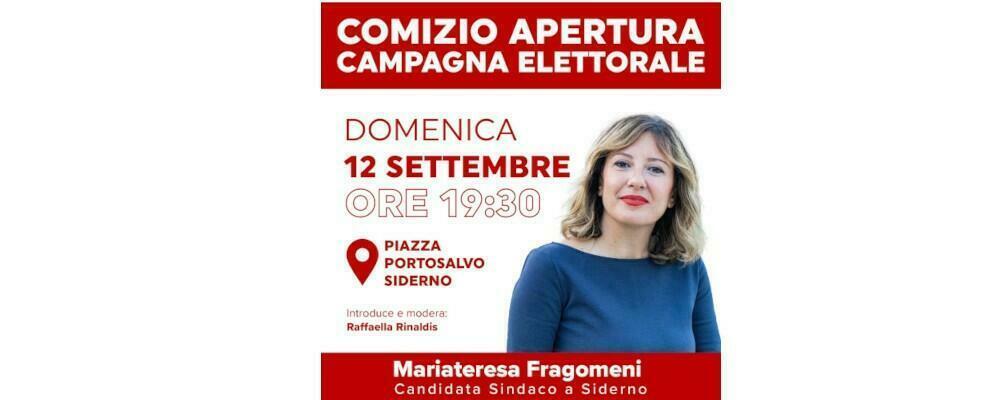 Siderno, questa sera il comizio di apertura della campagna elettorale di Mariateresa Fragomeni