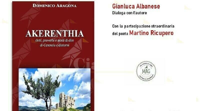 """Siderno, giovedì la presentazione del libro """"Akerenthia"""" di Mimmo Aragona"""