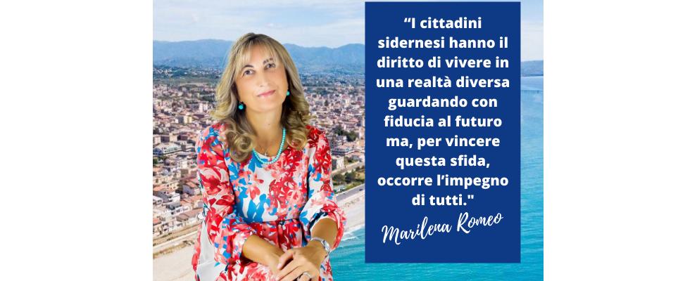 """Ballottaggio, Marilena Romeo a sostegno di Barranca:  """"Non possiamo perdere l'opportunità di ridare dignità a Siderno"""""""