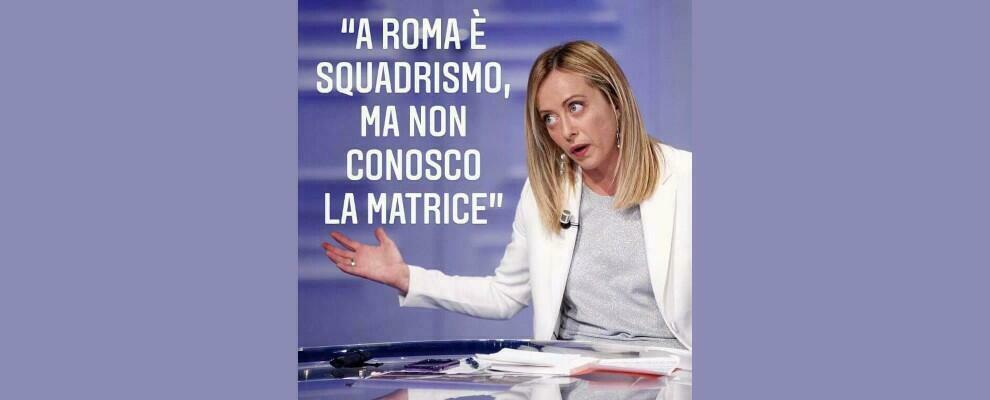 Squadrismo fascista: Giorgia Meloni sempre più imbarazzante
